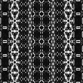 Mud cloth 3 (medium scale) black and white