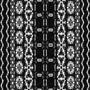 Mud cloth 4 (medium scale) black and white