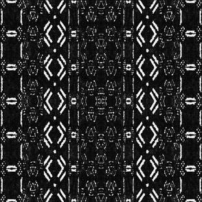 Mud cloth 7 (medium scale) black and white
