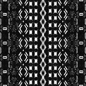 Mud cloth 8 (medium scale) black and white