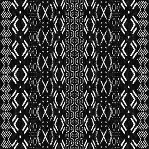 Mud cloth 2 (medium scale) black and white