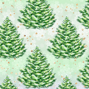 Christmas forest, christmas trees, christmas decor, christmas, woodland, winter forest, woods, winter, forest, glitter christmas, spruces, woodland pattern, fir trees, green, winter pattern