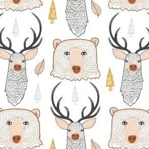 Woodland Animals off-white