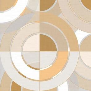 Golden Circles - Retro Geometry / Large