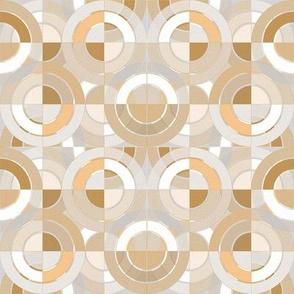 Golden Circles - Retro Geometry / Small