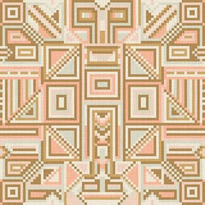 Pixel Geometry in Vintage Shades / Small
