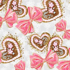 Lebkuchen, Baby, whimsical, girls room, sweet tooth, lovely kids, cute pattern, sweet nursery, baby pattern, sweets, kids pattern, baby nursery, gingerbread hearts, kids