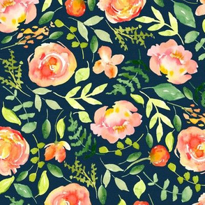 Sunset Florals | Watercolor Pattern