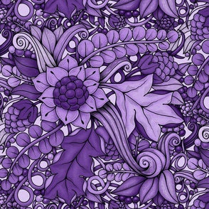 Harvest Garden—purple monochrome