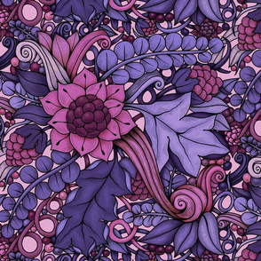 Harvest Garden—pink and purple