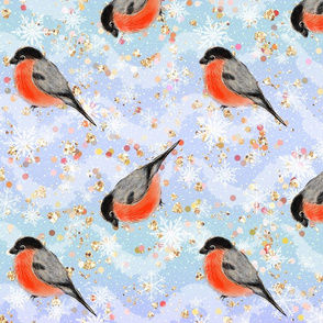 bullfinches, glitter pattern, winter pattern, winter birds, bullfinches birds, Red birds, bright pattern, woodland pattern, christmas pattern, bird pattern, christmas birds, glitter, winter woodland