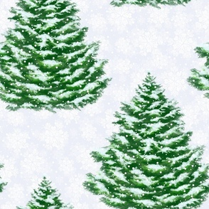 woodland, winter forest, christmas trees, woods, winter, forest, snow, spruces, woodland style, fir tree, winter nature, Christmas decor, winter pattern, snowy