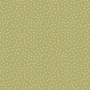 BKRD Candy Cane Christmas Mossy Green Polka Dots 3x3