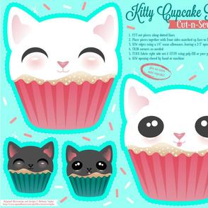 Cut N Sew Kitty Cupcake Pillow
