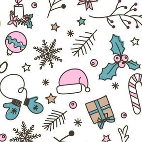 christmas mix, christmas pattern, white background, christmas haliday, christmas decor, vintage christmas, christmas gifts, cheerful christmas, merry christmas, christmas mash, santa hat, christmas wrapping, holiday decor, christmas stuff