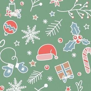 christmas decor, green and red, christmas pattern, holiday decor, christmas mix, christmas stuff, christmas tree, vintage christmas, christmas gifts, cheerful christmas, merry christmas, christmas bell, santa hat, christmas wrapping