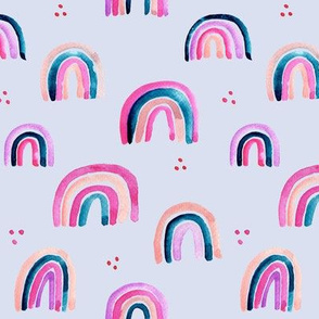 Whimsical colorful rainbows