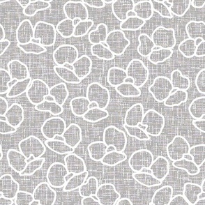 linen canvas, flowers, poppies, poppies flowers, poppy design, poppy pattern, white and gray, gray, flower pattern, upholstery fabric, upholstery canvas, linen cloth, upholstery fabric, linen home decor