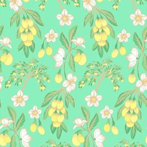 Summer garden_mint green_ aquamarine