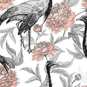 Cranes Of Floral Garden