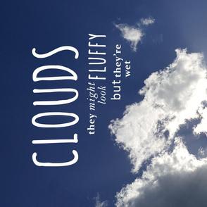 Tea Towel - not particularly Inspirational Clouds