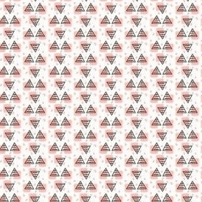 Ditsy Party Triangles - Dusty Rose