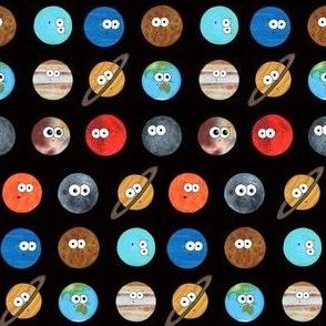 Cute Planet Polka Dot - On Black