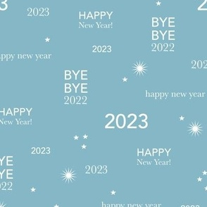 Happy new year 2021 - exit 2020 typography abstract minimalist text design soft blue white