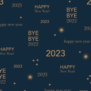 Happy new year 2021 - exit 2020 typography abstract minimalist text design navy blue lilac