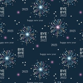 Happy new year 2021 fireworks - exit 2020 typography abstract minimalist text design navy blue lilac yellow