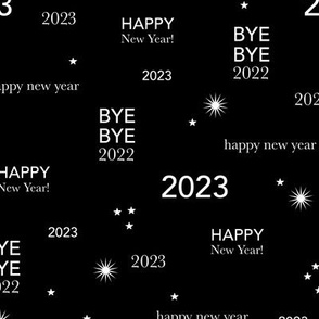 Happy new year 2021 - exit 2020 typography abstract minimalist text design monochrome black and white