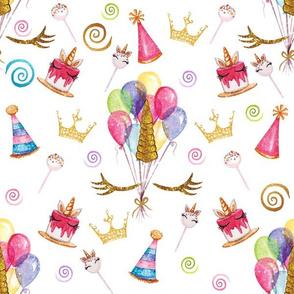 Unicorn Balloons Birthday Glitter Party