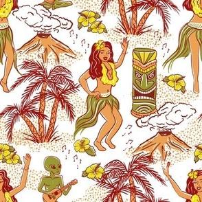Hawaii Dance with alien musician