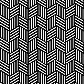 Black and White Geometric Abstract Lines