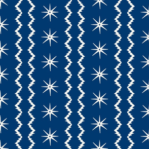 STARS AND STRIPES Blue and white
