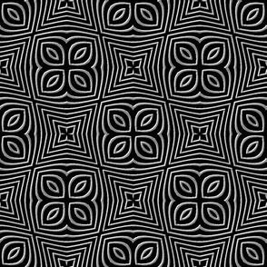 Clover Cross//Black and White