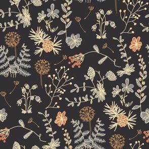 flower pattern, vintage flowers, forest flowers, flowers, flower design, summer pattern, dress pattern, floral pattern, plants, natural design, natural pattern, wild plants, wild flowers.