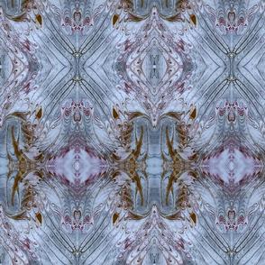 Blue Purple and Brown Marbled Silk Kaleidoscope