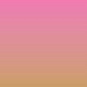 Ombre minimalist bright pink ochre yellow
