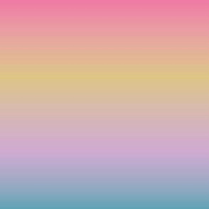 Ombre minimalist color block bright rainbow pink purple yellow blue