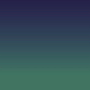 Ombre minimalist navy blue to green ocean