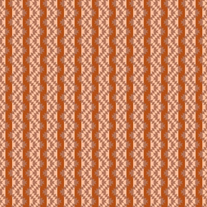striped, ikat, vintage, Rusty, brown, stripes and zigzags, ikat pattern, striped ornament, weaving, geometric, striped pattern, rusty orange, zigzags.