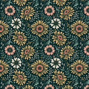 Lamb Illustration's Floral Sunflower Pattern