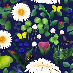 Microscopic Garden with Fairies