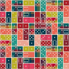 Playing Plaid Dominos Medium