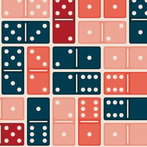 Domino Blue Orange Pink Large
