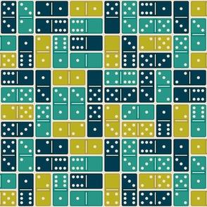 Domino Blue Green Medium