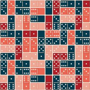 Domino Blue Orange Pink Medium
