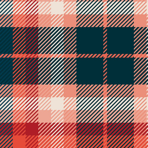 Plaid Blue Red Pink