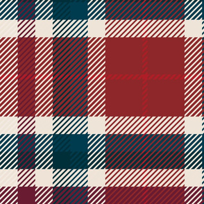 Plaid Red and Blue Large